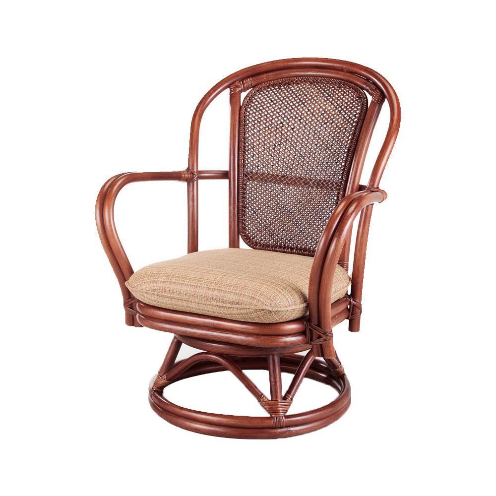 (同梱不可)今枝ラタン 籐 シーベルチェア 回転椅子 ブルース A-230SD