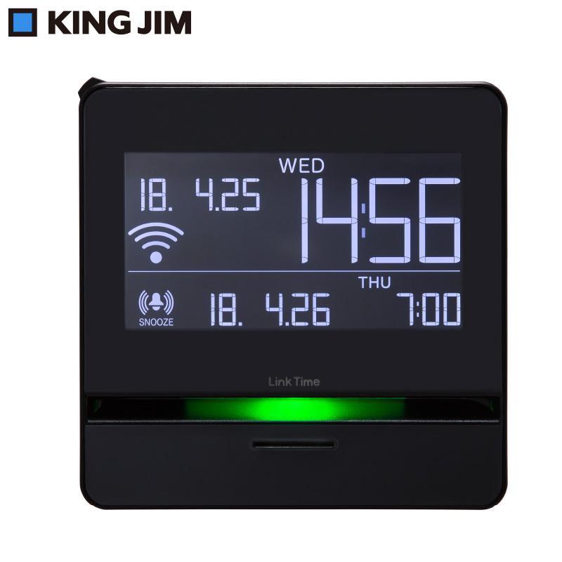 (同梱不可)キングジム スマートプログラムアラーム「リンクタイム」 ブラック LT10