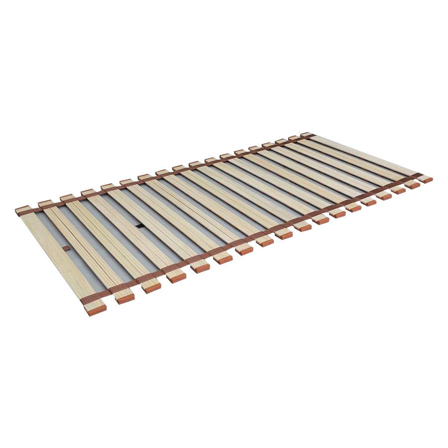 (同梱不可)クルクル巻き取りとても簡単! 薄型軽量桐すのこベッド ロール式 シングル LY-100