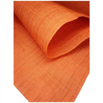 お部屋を彩る!  (代引き不可)(同梱不可)本麻無地のれん 橙色 約巾88×丈150cm