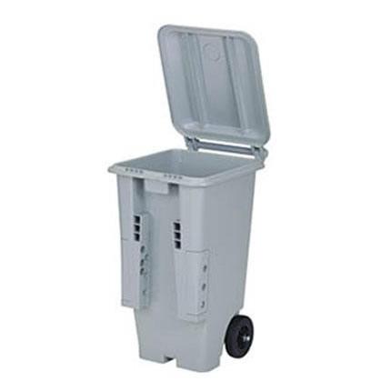 大量のゴミもラクラク運べるキャスター付ダストボックス☆  (代引き不可)(同梱不可)三甲 サンコー サンクリーンボックス SCB-Pシリーズ 2輪キャスター付き大型ごみ箱 SCB130P フタ:ライトグレー 613000-04