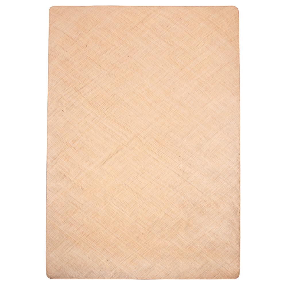 (同梱不可)籐本手織り あじろ編みラグ 140×200cm AJRW140