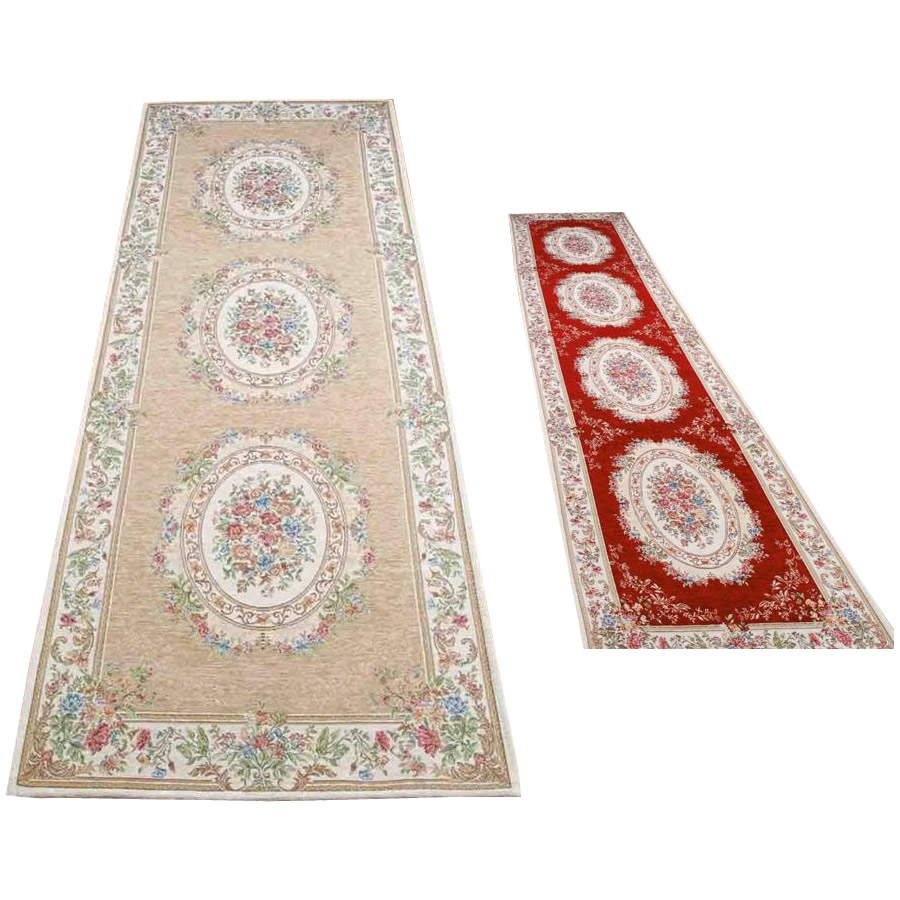 (同梱不可)ゴブラン織 シェニール廊下敷 約80×340cm