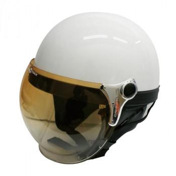 (同梱不可)ダムトラックス(DAMMTRAX) バブル ビー ハーフ ヘルメット PEARL WHITE