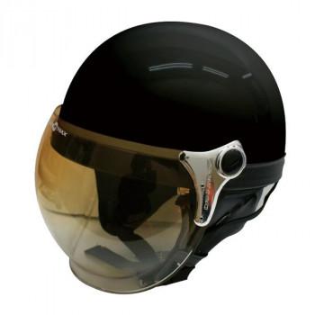 (同梱不可)ダムトラックス(DAMMTRAX) バブル ビー ハーフ ヘルメット PEARL BLACK