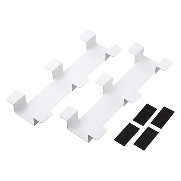 (同梱不可)サンワサプライ タブレット収納保管庫用ケーブルフックバー(2個セット)ホワイト CAI-CABCHB1W
