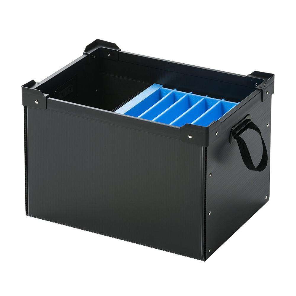 (同梱不可)サンワサプライ プラダン製タブレット・ノートパソコン収納ケース(6台用) PD-BOX3BK