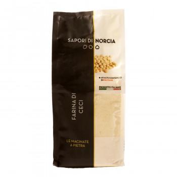 豆類のプロフェッショナルのサポーリ・ディ・ノルチャ。  (代引き不可)(同梱不可)サポーリ・ディ・ノルチャ ヒヨコ豆の粉 ファリーナ ディ チェーチ 500g 20袋セット 7409