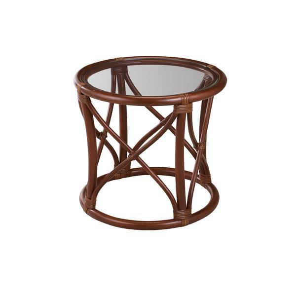 (同梱不可)今枝ラタン 籐 テーブル サイドテーブル ブラウン NO-11D