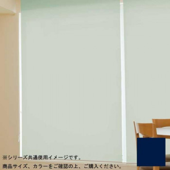 (代引き不可)(同梱不可)タチカワ ファーステージ ロールスクリーン オフホワイト 幅110×高さ200cm プルコード式 TR-162 ネイビーブルー