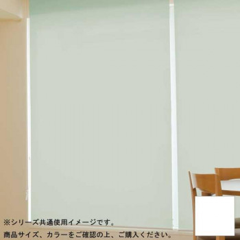 (代引き不可)(同梱不可)タチカワ ファーステージ ロールスクリーン オフホワイト 幅120×高さ200cm プルコード式 TR-178 スノー