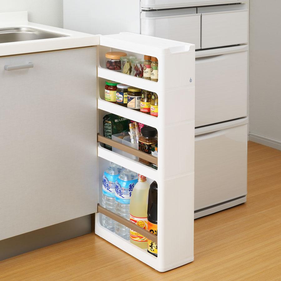 幅17cmの隙間が便利な収納スペースに早変わり すき間収納 キッチン収納 最新アイテム スリムストレージ ラックタイプC 超定番 スリムストッカー ストランティ 同梱不可