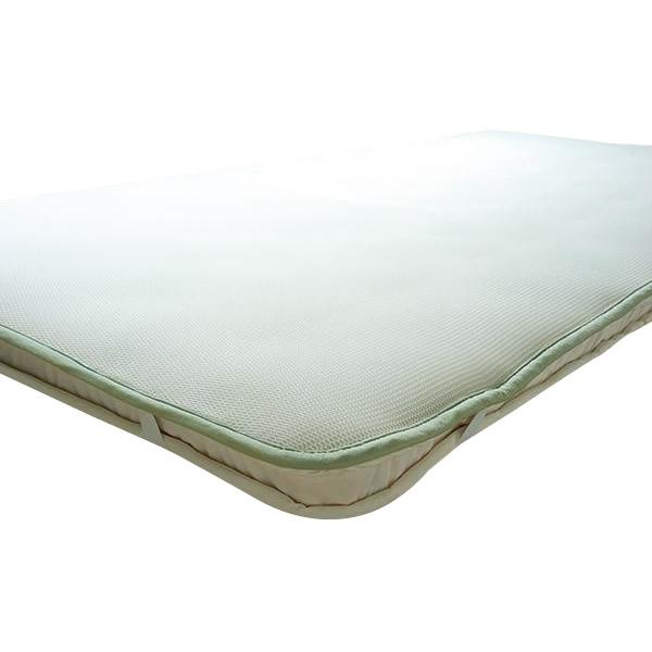 (同梱不可)越後ふとん スリープエアーマット(ジャパンプレミアム) シングル 100×200cm フュージョン白・182830