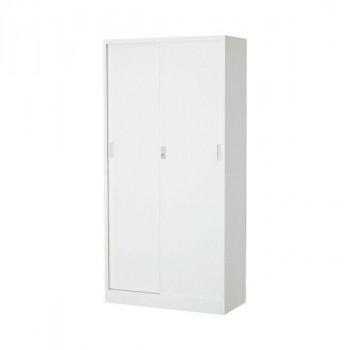 (代引き不可)(同梱不可)オフィス向け 一般書庫・ホワイト 3×6型引違書庫 1号鉄戸 COM-603D-W