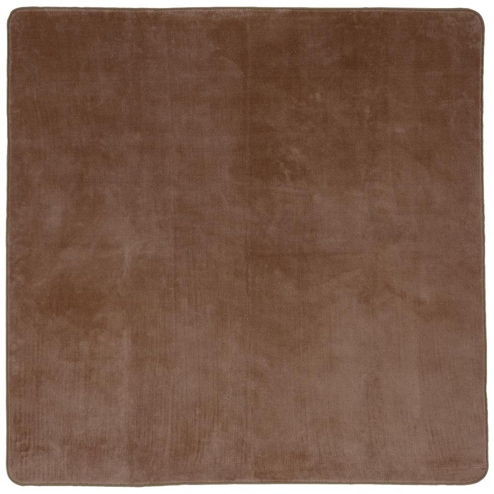 (同梱不可)洗えるミンクタッチラグ 約200×250cm BE 240586224