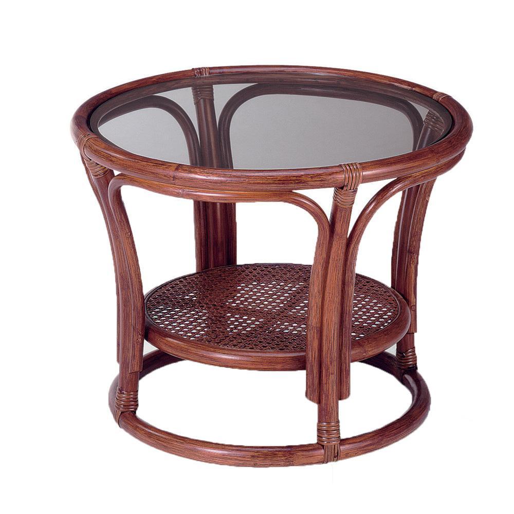 (同梱不可)今枝ラタン 籐 テーブル サイドテーブル ブラウン NO-21D