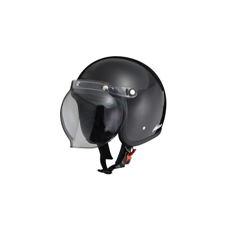 (同梱不可)リード工業 Ambrose ジェットヘルメット ブラック LLサイズ AB-505