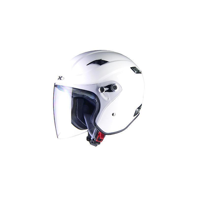 (同梱不可)リード工業 X-AIR RAZZOIII ジェットヘルメット ホワイト Mサイズ