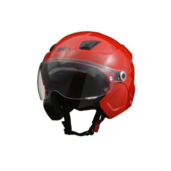 (同梱不可)リード工業 X-AIR SOLDAD システムセミジェットヘルメット レッド フリーサイズ