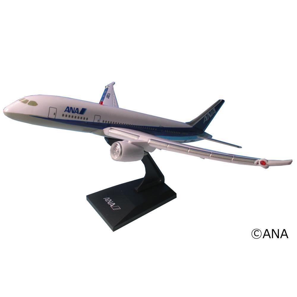 ライトやサウンドがとってもリアル 代引き不可 エアプレーングッズ 飛行機グッズ 完成品 電池 好評 玩具 おもちゃ MT456 リアルサウンドジェット 同梱不可 ANA飛行機模型 塗装済 インテリア ディスプレイスタンド付き