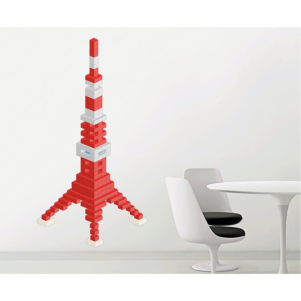 (代引き不可)(同梱不可)東京ステッカー ウォールステッカー 転写式 ブロック・タワー ベーシック Lサイズ TS-0020-AL