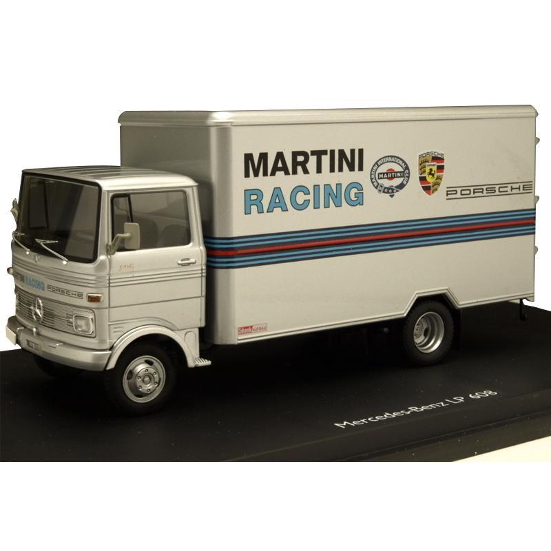 (同梱不可)Schuco/シュコー メルセデス・ベンツ LP 608 MARTINI RACING グレー 1/43スケール 03528