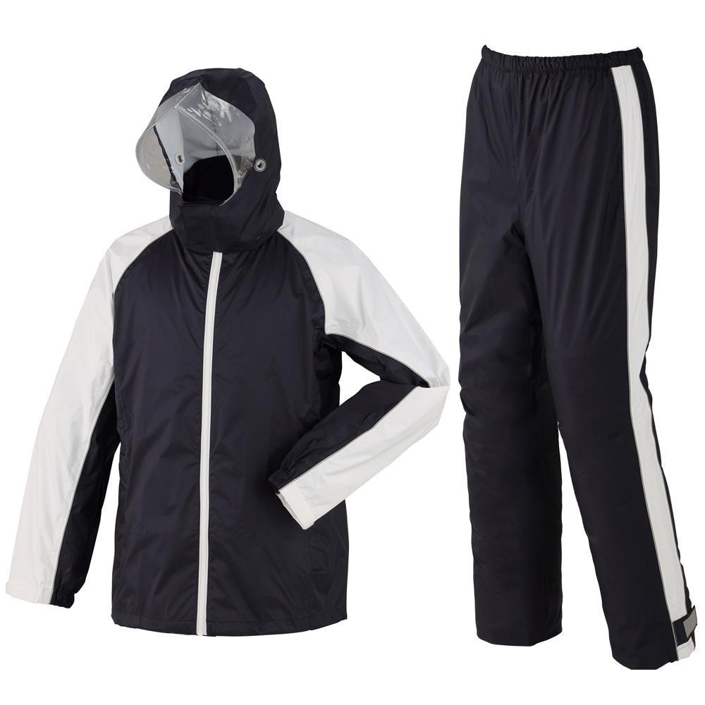 (同梱不可)スミクラ レインウェア 透湿ST スーツ リュック型 A-652 ネイビー M