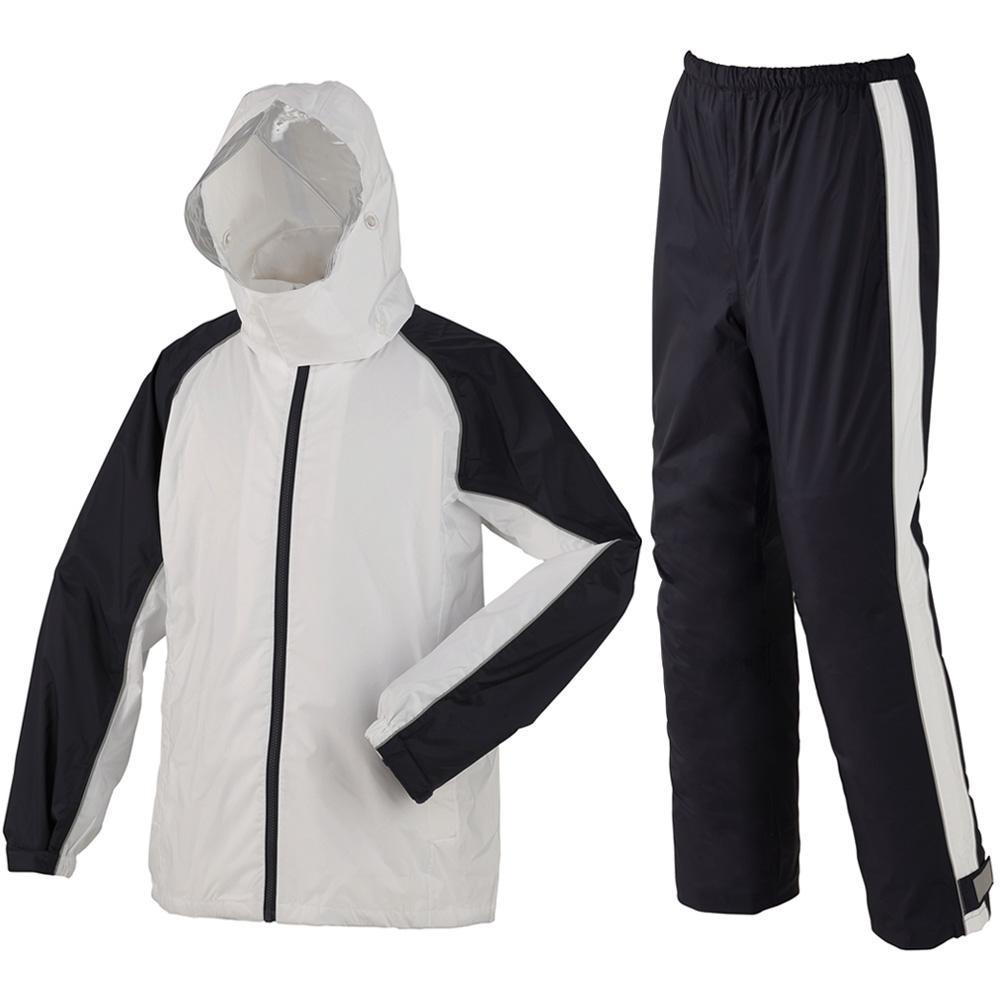 (同梱不可)スミクラ レインウェア 透湿ST スーツ リュック型 A-652 ホワイト S