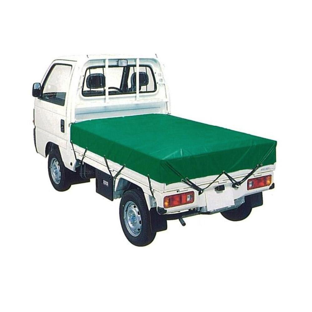 (代引き不可)(同梱不可)萩原工業 エステル帆布トラックシート H-3号 2tトラック グリーン 2.5m×3.6m