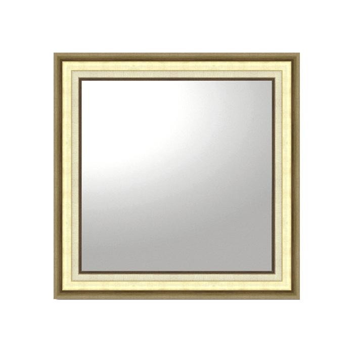(同梱不可)ユーパワー デコラティブ 大型ミラー モダン 正方形(ゴールド) BM-16025
