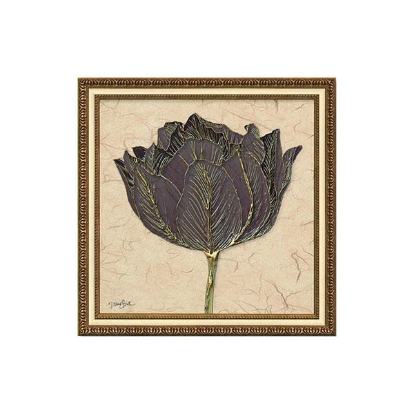 (同梱不可)ユーパワー アートフレーム ダイアン スティムソン「ゴールド ブラック チューリップ」 DS-13023