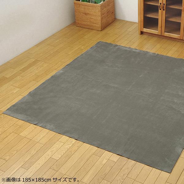 (同梱不可)ラグ カーペット 『イーズ』 グレー 約220×320cm (ホットカーペット対応) 3963549