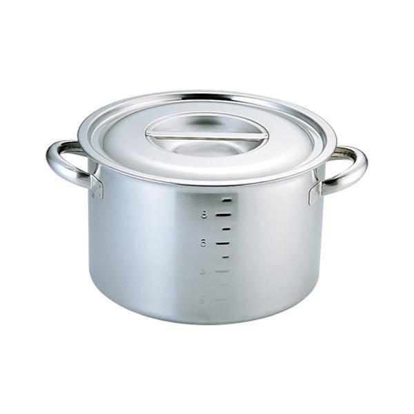 (代引き不可)(同梱不可)電磁モリブデン半寸胴鍋 目盛付 27cm 019242-027