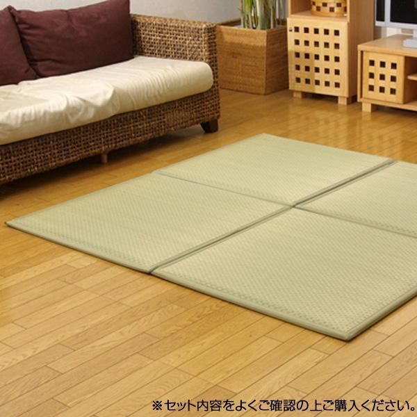 (同梱不可)国産い草使用 置き畳 ユニット畳 『フレア』 ナチュラル 82×82×2.3cm(6枚1セット) 8608430