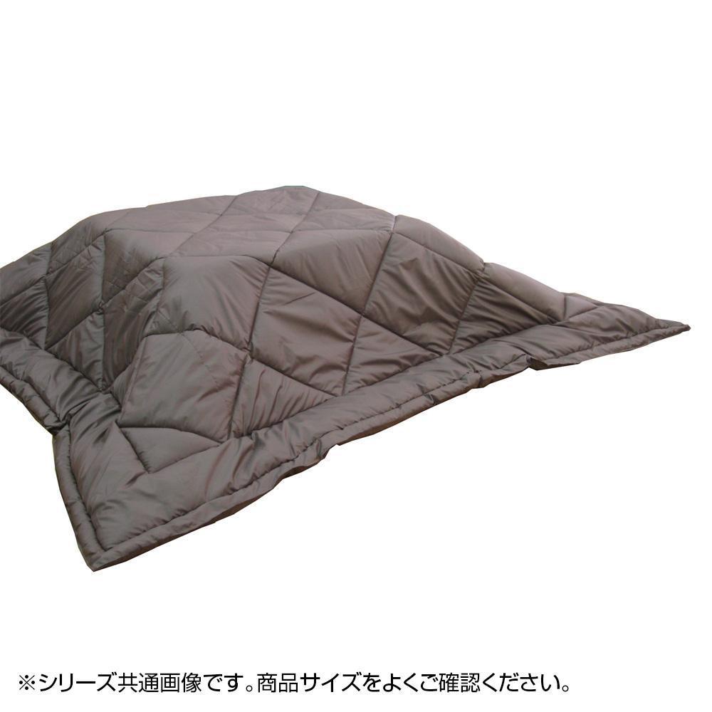 (代引き不可)(同梱不可)薄くて暖か蓄熱発熱こたつ掛ふとん 長方形 ブラウン