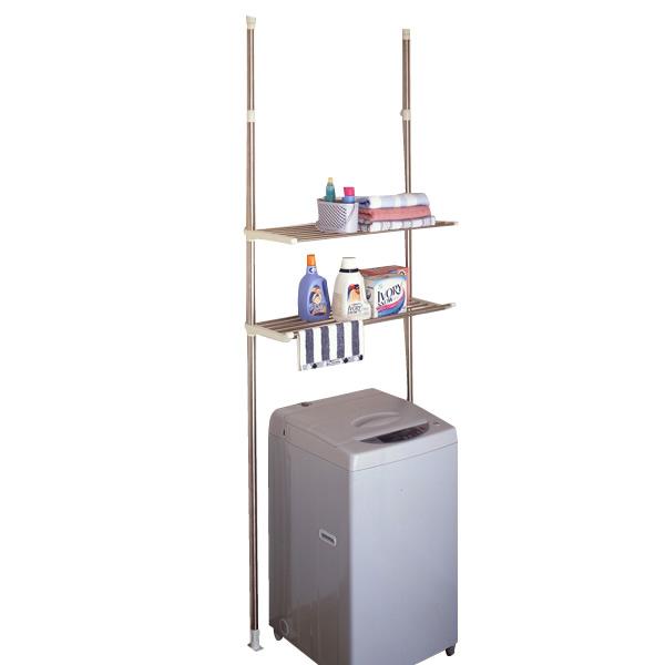 (代引き不可)(同梱不可)セキスイステンレス洗濯機ラック DTSR-50