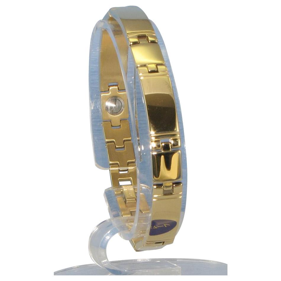 (同梱不可)MARE(マーレ) ゲルマニウム5個付ブレスレット GOLD/IP ミラー 118G S (17.5cm) H1103-33S