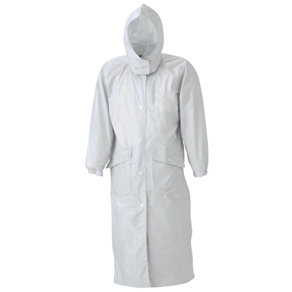 (同梱不可)スミクラ 透湿 ストリートコート E-675シルバー LL