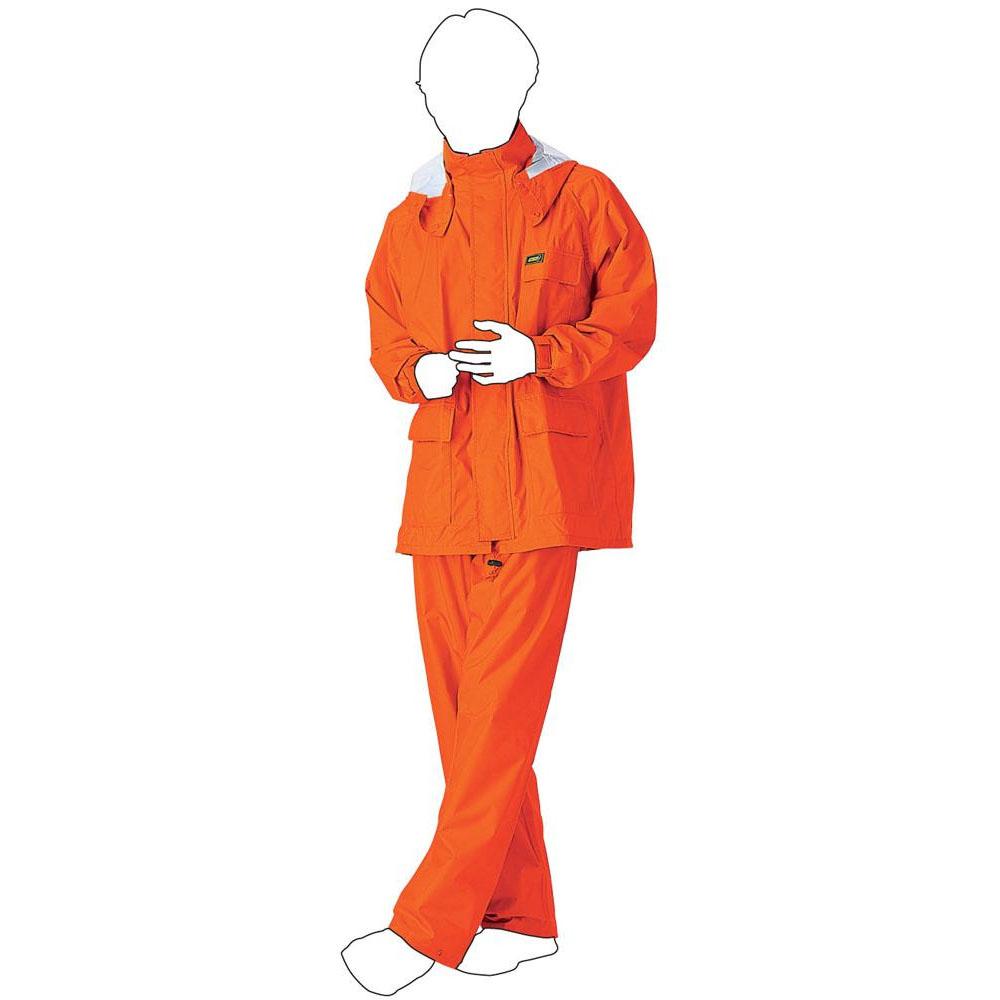 (同梱不可)スミクラ 透湿 MOA シータ レインスーツ A-660オレンジ L