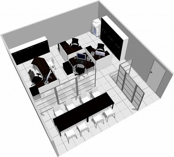 【送料無料】【smtb-TK】【スタンダード】SOHO家具パッケージ・45平米(4人用) 簡易パネルで仕事に集中【YDKG-tk】【fsp2124】【fs2gm】【fs3gm】