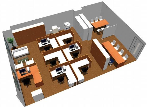 【送料無料】【smtb-TK】【クリエイティブ】SOHO家具パッケージ・80平米(7人用) 図面を広げての作業にも充分な広さのデスク【YDKG-tk】【fsp2124】【fs2gm】【fs3gm】