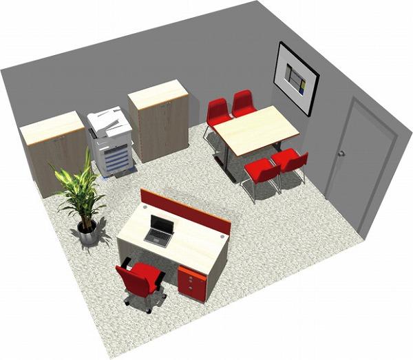 【送料無料】【smtb-TK】【スタンダード】SOHO家具パッケージ・15平米(1人用) 白木でナチュラルオフィス【YDKG-tk】【fsp2124】【fs2gm】【fs3gm】