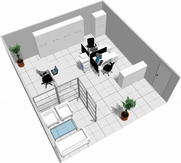 【送料無料】【smtb-TK】【スタンダード】SOHO家具パッケージ・45平米(3人用)白を基調に清潔感のあるオフィス【YDKG-tk】【fsp2124】【fs2gm】【fs3gm】