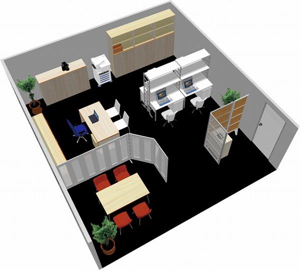 【送料無料】【smtb-TK】【スタンダード】SOHO家具パッケージ・45平米(5人用) 机上空間も有効利用!【YDKG-tk】【fsp2124】【fs2gm】【fs3gm】