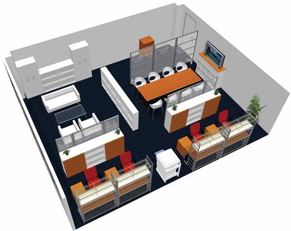 【送料無料】【smtb-TK】【クリエイティブ】SOHO家具パッケージ・60平米(4人用) プレゼン重視!【YDKG-tk】【fsp2124】【fs2gm】【fs3gm】