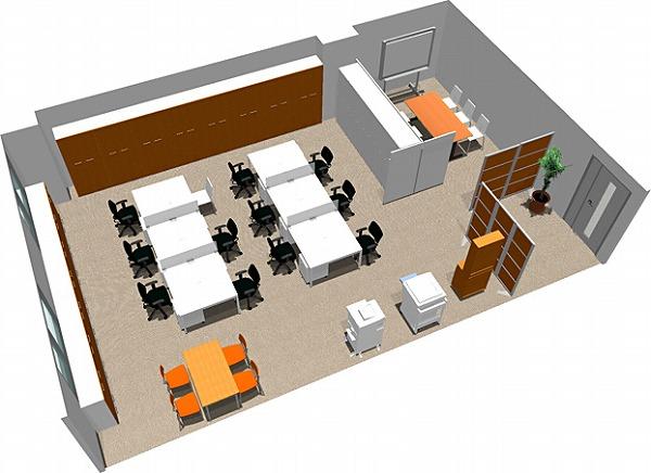 【送料無料】【smtb-TK】【スタンダード】SOHO家具パッケージ・80平米(9人用)フリーアドレスで席が自由に動かせます。【YDKG-tk】【fsp2124】【fs2gm】【fs3gm】