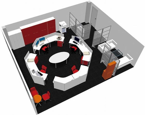 【送料無料】【smtb-TK】【クリエイティブ】SOHO家具パッケージ・60平米(4人用) ちょっと変わったラウンド空間【YDKG-tk】【fsp2124】【fs2gm】【fs3gm】