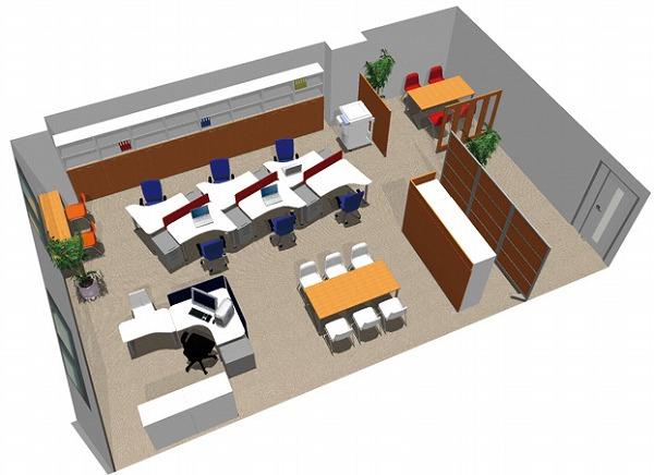 【送料無料】【smtb-TK】【スタンダード】SOHO家具パッケージ・80平米(7人用) 効率のいい変形テーブルレイアウト【YDKG-tk】【fsp2124】【fs2gm】【fs3gm】