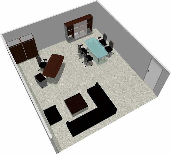 【送料無料】【smtb-TK】【エグゼクティブ】SOHO家具パッケージ・45平米(1人用) スペースを贅沢に【YDKG-tk】【fsp2124】【fs2gm】【fs3gm】