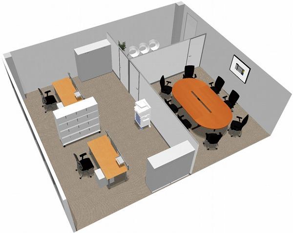 【送料無料】【smtb-TK】【エグゼクティブ】SOHO家具パッケージ・60平米(4人用) プレゼンルームをシェアするオフィス【YDKG-tk】【fsp2124】【fs2gm】【fs3gm】